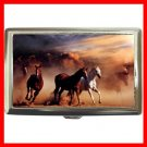 Horses Running Animals Hobby Cigarette Money Case 047