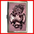 Pink Cross Sign Dragon Myth Hobby Cigarette Money Case 050