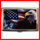 American Flag Eagle Liberty Hobby Cigarette Money Case 051