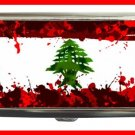 LEBANESE FLAG With Blood Hobby Cigarette Money Case 065