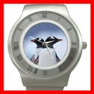 PENGUINS Couple Love Bird Stainless Steel Wrist Watch Unisex 134
