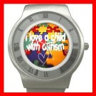 Autism Awareness Health Kids Stainless Steel Wrist Watch Unisex 137