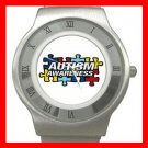 Autism Awareness Health Kids Stainless Steel Wrist Watch Unisex 138