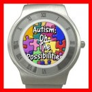 Autism Awareness Health Kids Stainless Steel Wrist Watch Unisex 139