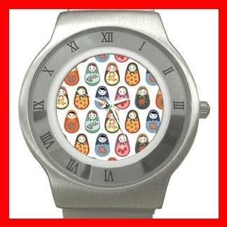 RUSSIAN NESTING DOLLS ARTS Stainless Steel Wrist Watch Unisex 140