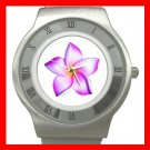 PINK FRANGIPANI Flowers Stainless Steel Wrist Watch Unisex 142