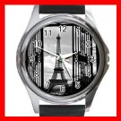 Eiffel Tower Paris Scenery Round Metal Wrist Watch Unisex 146