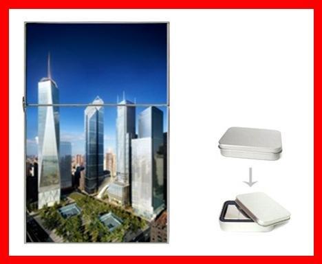 New World Trade Center Building Flip Top Lighter + Box New Gift 007
