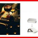 Wine Red Guitar Music Hobby Flip Top Lighter + Box New Gift 015