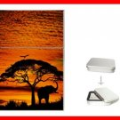 African Skies Elephant Sunset Hobby Flip Top Lighter + Box New Gift 021