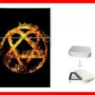 Golden Fire Heartagram Hobby Flip Top Lighter + Box New Gift 026