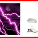 Purple Night Lightning Storm Hobby Flip Top Lighter + Box New Gift 031