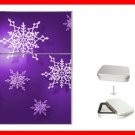 Christmas Purple Snowflakes Snow Hobby Flip Top Lighter + Box New Gift 037