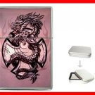 Pink Cross Sign Dragon Hobby Flip Top Lighter + Box New Gift 042