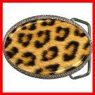 Leopard Skin Photo Wild Animal Print Pattern Hobby Fun Belt Buckle 009