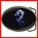 Blue Chinese Dragon Mystical Fantasy Belt Buckle 016