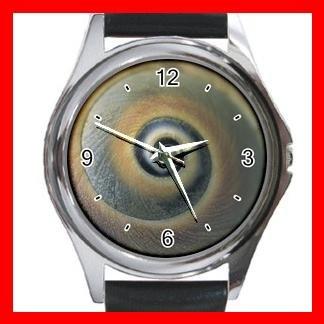 Snail Shell Print Hobby Round Metal Wrist Watch Unisex 151