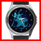Blue Butterfly Triangle Star Hobby Round Metal Wrist Watch Unisex 159