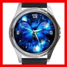 HOT Blue Butterfly Fly Hobby Round Metal Wrist Watch Unisex 162