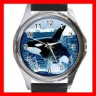 Emerging Killer Whale Marine Round Metal Wrist Watch Unisex 167