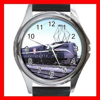 PENNSYLVANIA R.R TRAIN Round Metal Wrist Watch Unisex 175