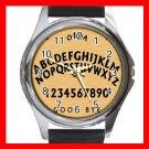 OUIJA BOARD Wooden Hobby Round Metal Wrist Watch Unisex 177