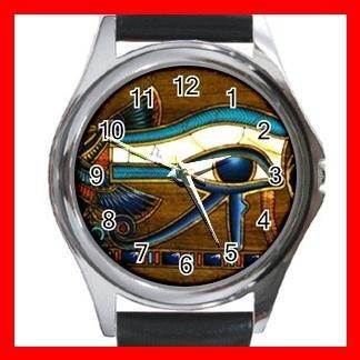 The Eye Of Horus Hobby Round Metal Wrist Watch Unisex 178