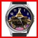 Eiffel Tower Paris France Round Metal Wrist Watch Unisex 179