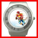 Ice Hockey Sports Game Stainless Steel Wrist Watch Unisex 148