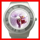 Purple Orchid Flowers Stainless Steel Wrist Watch Unisex 150