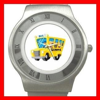 BACK SCHOOL BUS DRIVER Stainless Steel Wrist Watch Unisex 170