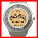 OUIJA BOARD Wooden Stainless Steel Wrist Watch Unisex 177