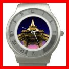 Eiffel Tower Paris France Stainless Steel Wrist Watch Unisex 181
