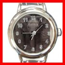Big Ears Elephant Animals Round Italian Charm Wrist Watch 556