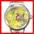 Sun Flower Butterfly Fly Round Italian Charm Wrist Watch 570