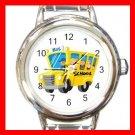 Back SCHOOL BUS DRIVER Round Italian Charm Wrist Watch 579
