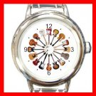 Guitars Circle Music Hobby Round Italian Charm Wrist Watch 583