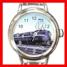 PENNSYLVANIA R.R TRAIN Round Italian Charm Wrist Watch 589
