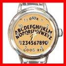 OUIJA BOARD Wooden Hobby Round Italian Charm Wrist Watch 592