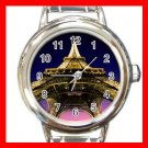 Eiffel Tower Paris France Round Italian Charm Wrist Watch 593