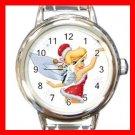 Christmas Tinkerbell Round Italian Charm Wrist Watch 595