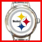 Pittsburgh Steelers Football Sports Round Italian Charm Wrist Watch 598