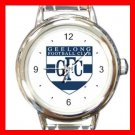 Geelong Football Football Sports Round Italian Charm Wrist Watch 603