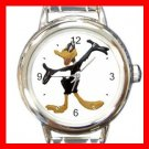 Daffy Duck Kids Round Italian Charm Wrist Watch 607