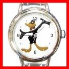 Daffy Duck Kids Round Italian Charm Wrist Watch 607