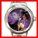 King Of Rock Music Round Italian Charm Wrist Watch 608