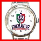 Fremantle Dockers Football Sports Round Italian Charm Wrist Watch 610