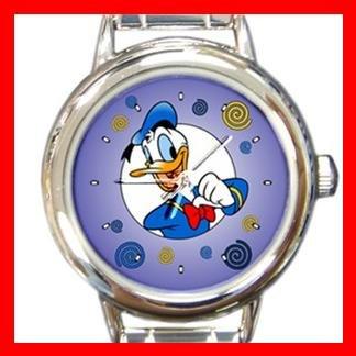 Donald Duck Kids Round Italian Charm Wrist Watch 616
