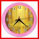 Princess And The Frog Kiss Kids Wall/Decor Clock-Pink 010