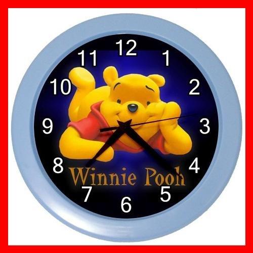 Cute Bear Winnie Pooh Kids Wall/Decor Clock-BabyBlue 011